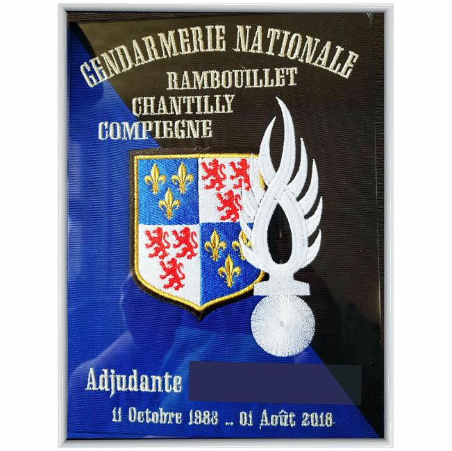 35 € – Cadre « Petit modèle » – GEND Compagnie de Compiègne 2