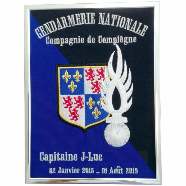 35 € – Cadre « Petit modèle » – GEND Compagnie de Compiègne