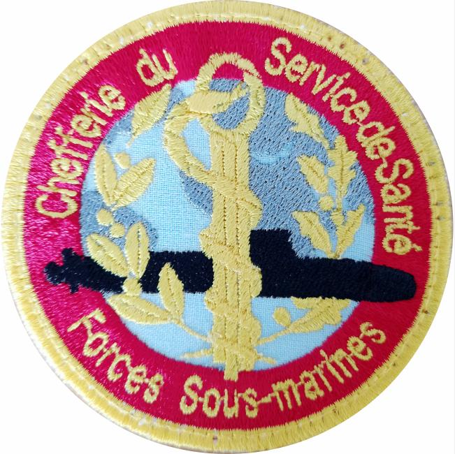 6€ – Patch – Service de santé des forces sous-marines
